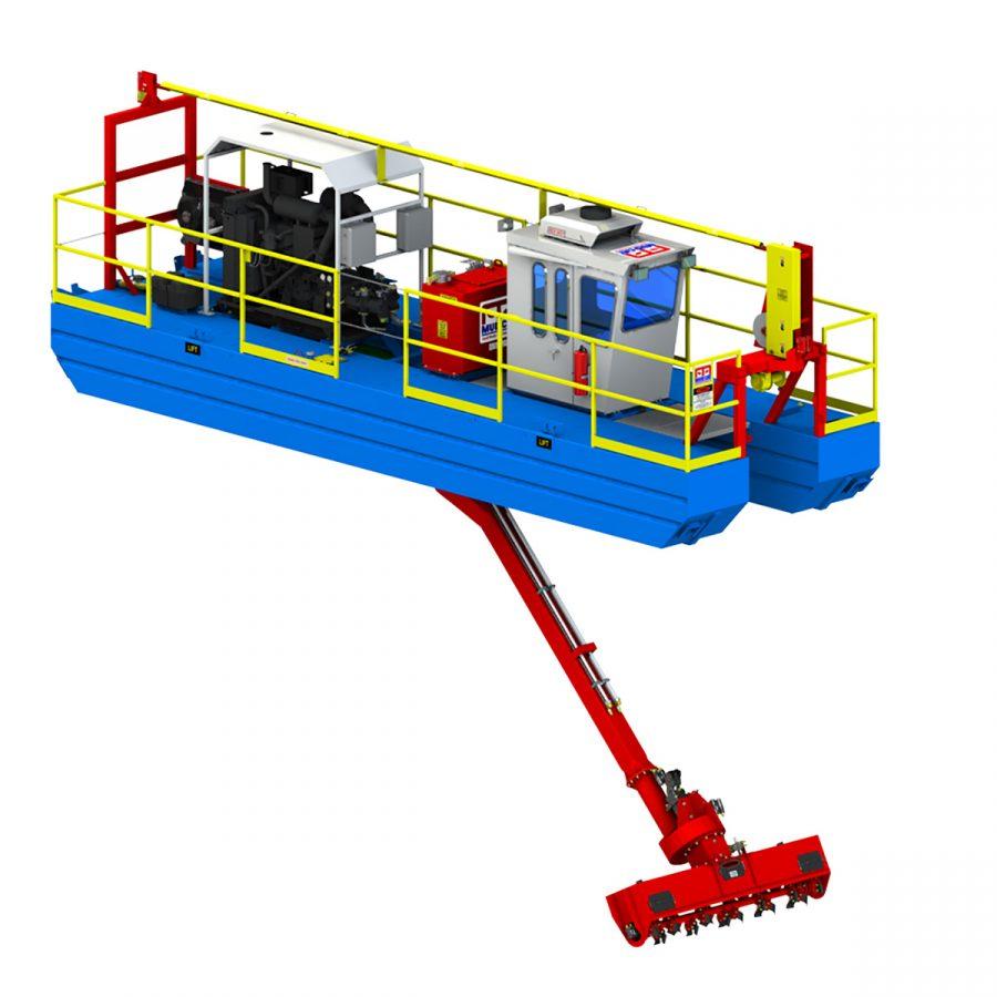 Drague diesel Mud Cat 115D - Dessin 3D