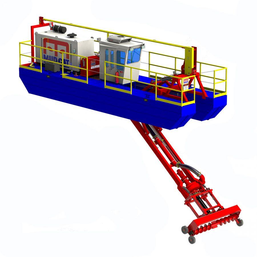 Drague diesel Mud Cat 225D - Dessin 3D