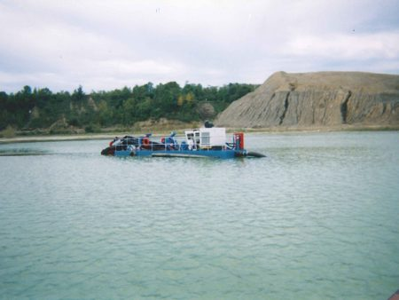 A Mud Cat dredges sand at a mine in the U.S.