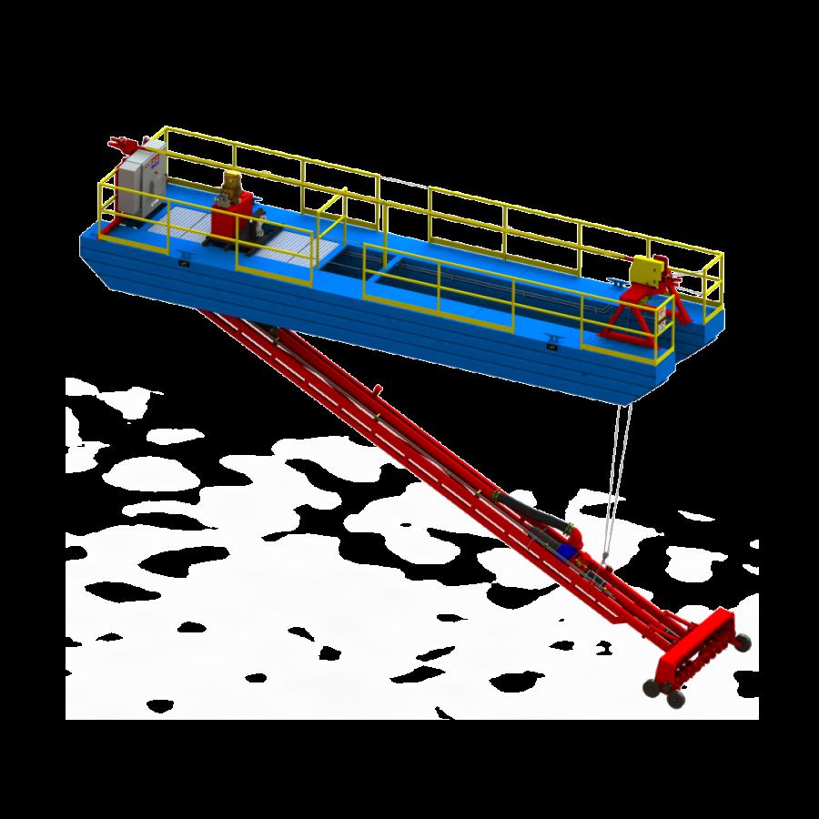 جرافة كهربائية للحفر العميق من Mud Cat 40E - رسم ثلاثي الأبعاد